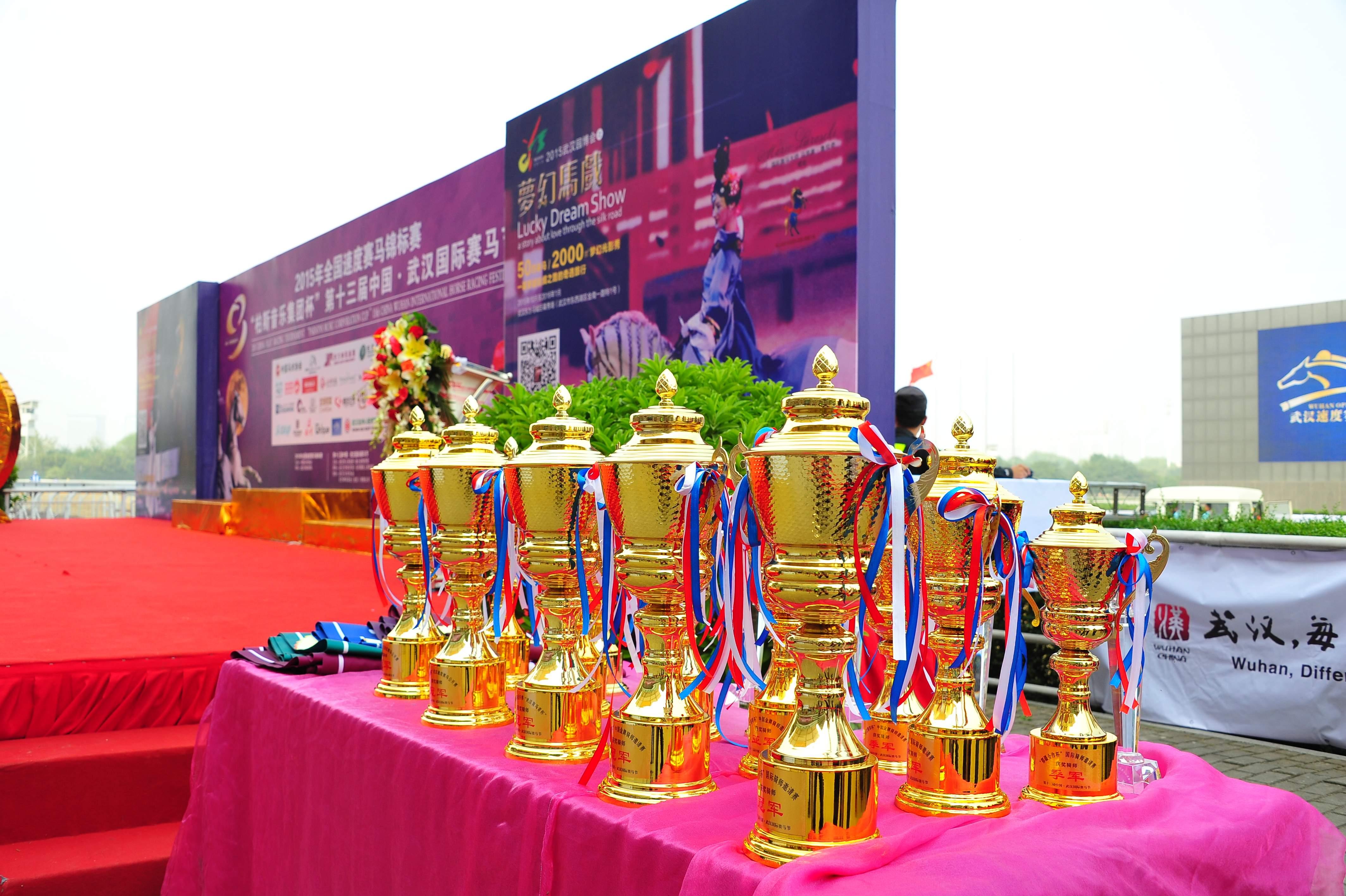 """2015年全国速度赛马锦标赛 """"伯斯音乐集团杯""""第十三届中国·武汉国际赛马节, 24日10月2015年"""